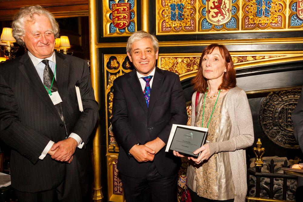 Christine Beddoe receives her Marsh Award 2014