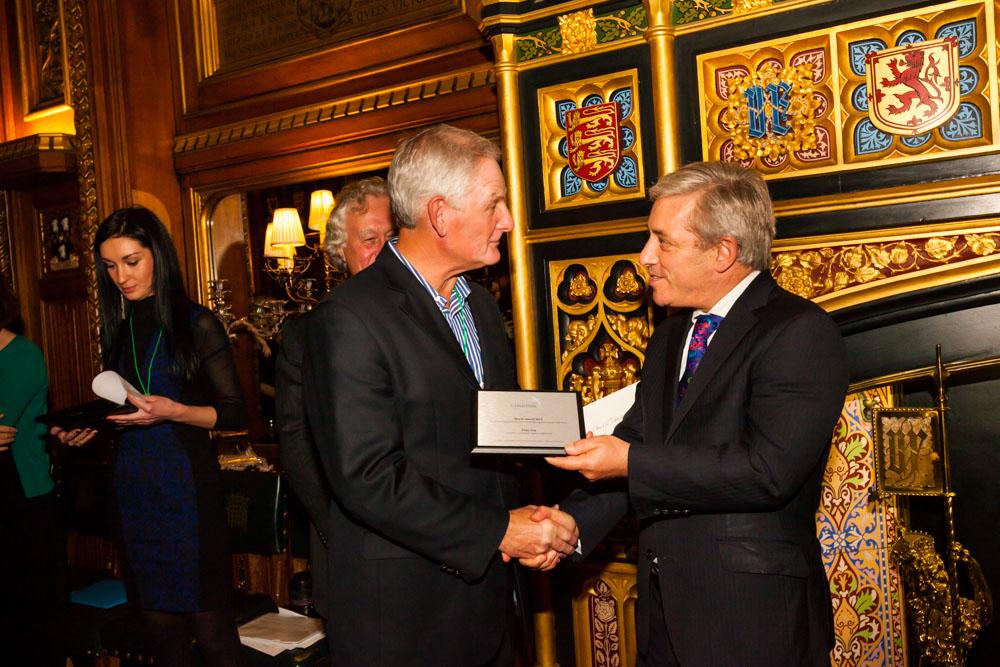 Peter Cox receiving Marsh Awards 2014