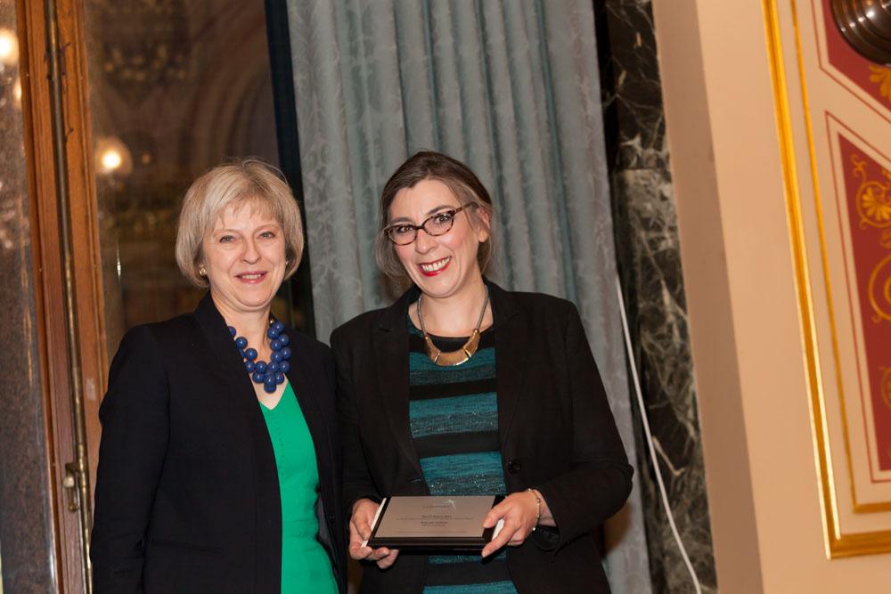 Bronagh Andrew recieving her Marsh Award 2015
